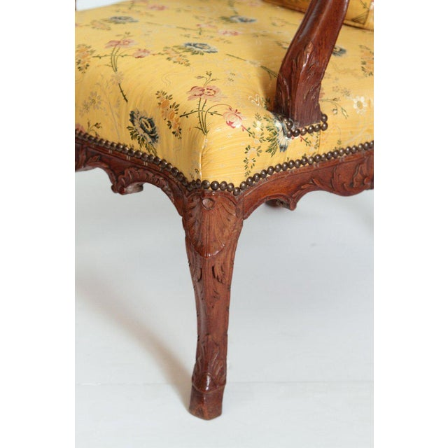 Yellow A Early 18th Century Walnut Regence Armchair For Sale - Image 8 of 13
