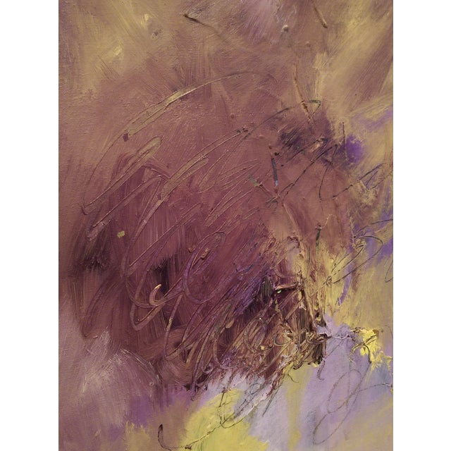 Original Oil on Canvas Abstract Modern Painting - Image 3 of 6