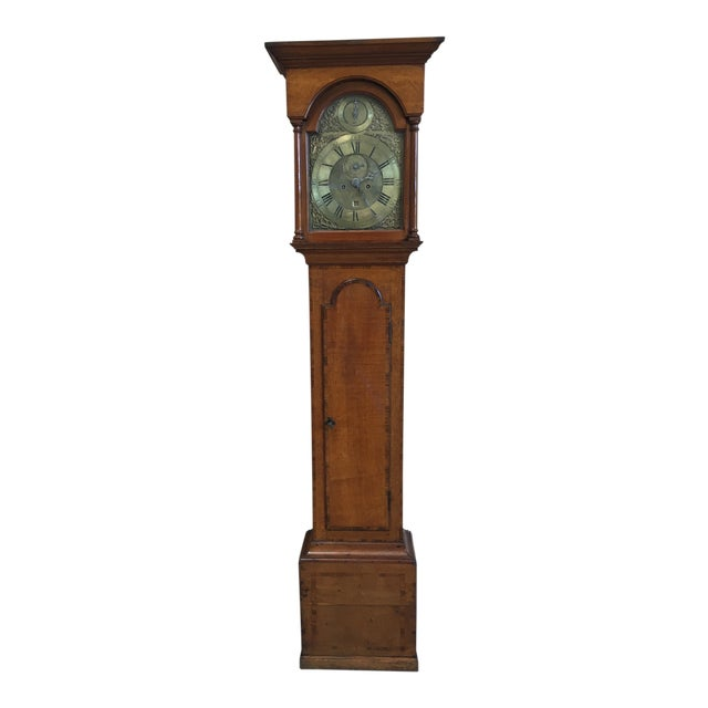 18th Century Longcase 8 Day Time & Strike Clock For Sale