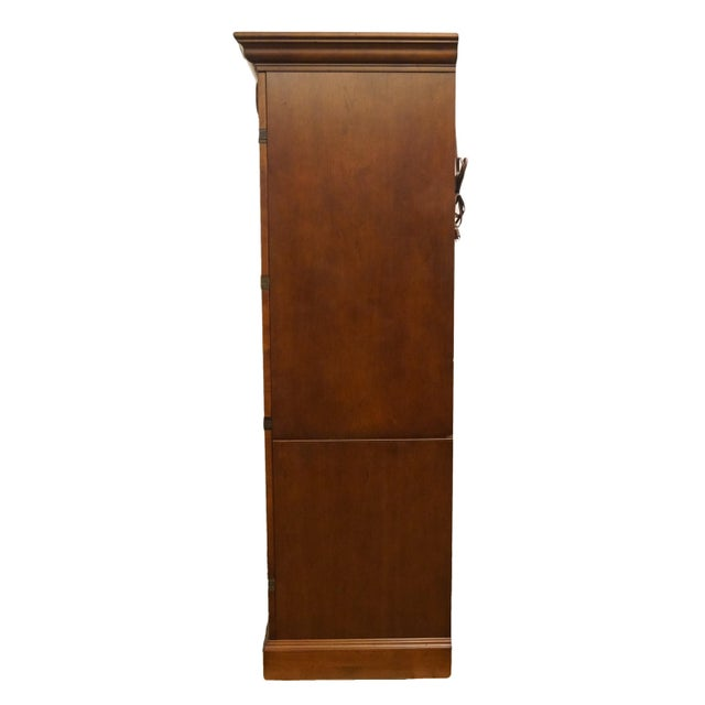 """20th Century Traditional Sligh Furniture Homeworks Home Office Collection 58"""" Computer/Media Armoire For Sale - Image 10 of 13"""