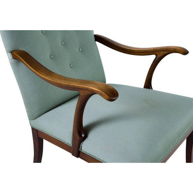 Teal Frits Henningsen Lounge Chair For Sale - Image 8 of 8