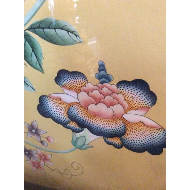 Glass 1970s Vintage Framed Gracie Wallpaper Panels - A Pair For Sale - Image 7 of 13