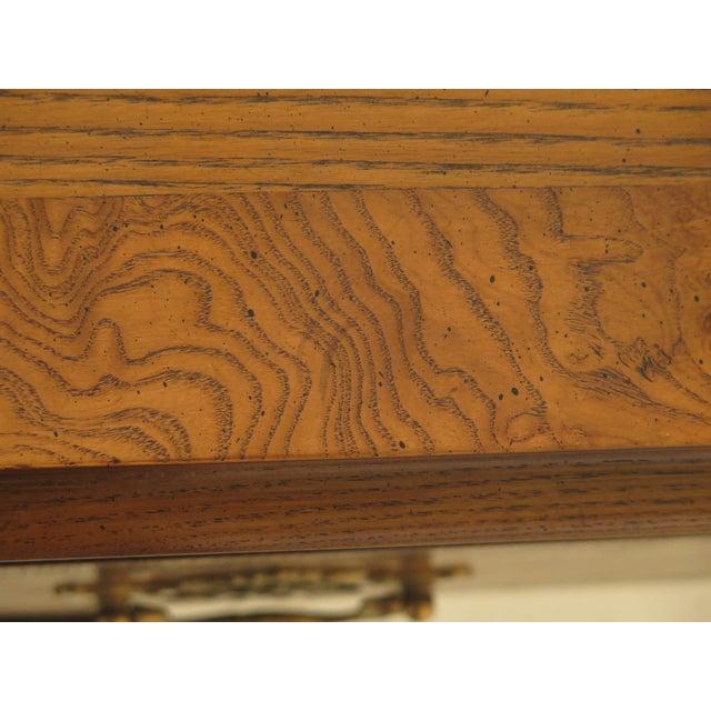 Baker English Style Oak & Walnut Sideboard For Sale - Image 9 of 12
