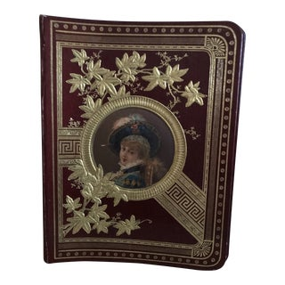 Victorian Tooled and Decorated Leather Scrapbook/Photo Album For Sale