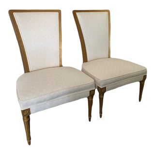 1960s High Backed Occasional Chairs - a Pair For Sale