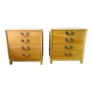 1950s Chinoiserie Landstrom Nightstands / Bachelor Chests - a Pair For Sale