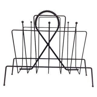 Mid Century Modern Frederick Weinberg Magazine Rack For Sale