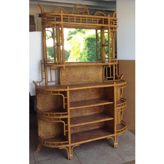 Lexington Bamboo and Rattan Etagere Preview