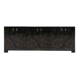 John Widdicomb the Moderne Collection Burl Walnut Credenza For Sale