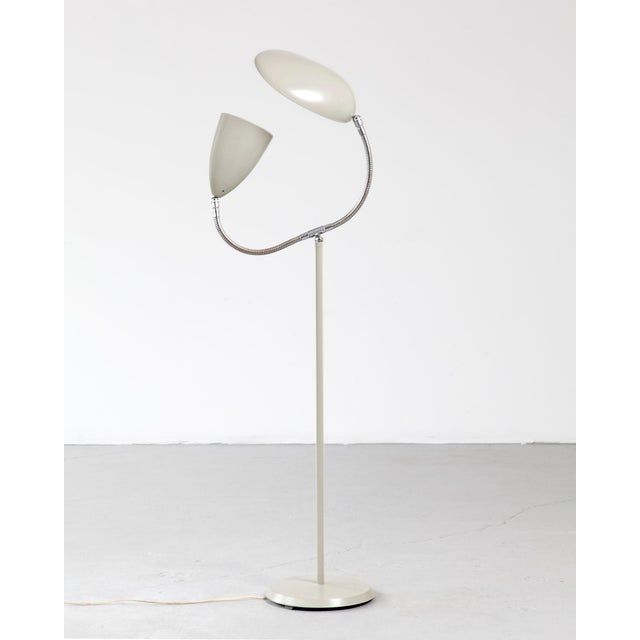 "Floor lamp with one cone shade and one ""Cobra"" shade For Sale In New York - Image 6 of 6"