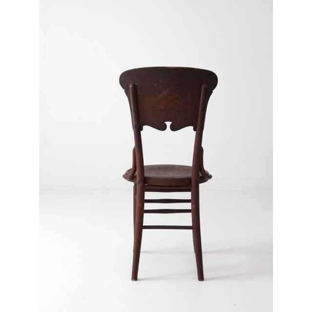 Antique Round Seat Chair For Sale - Image 5 of 8