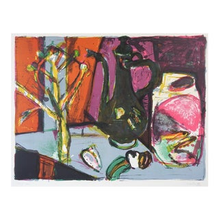 Hans Falk Abstract Still Life Lithograph For Sale