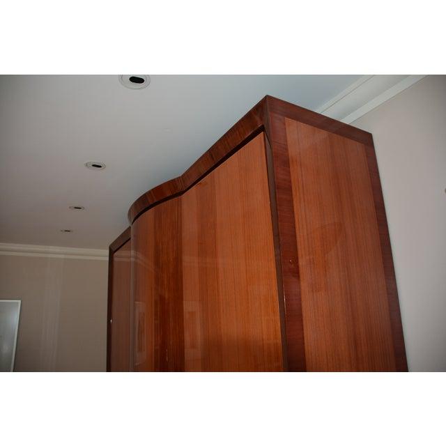 Dakota Jackson Custom Heraldic Bowfront Cabinet For Sale - Image 10 of 11
