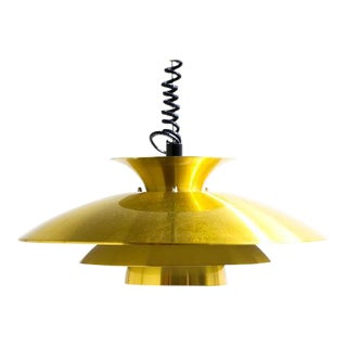 Brass Henningsen Style Hanging Lamp For Sale