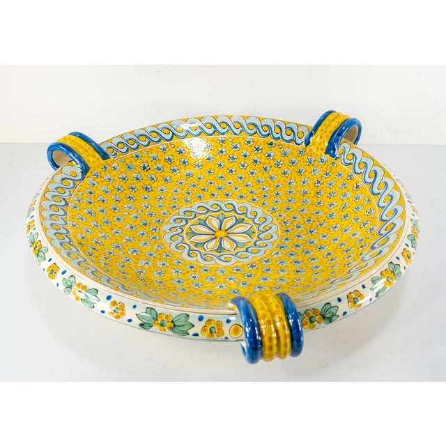 We are selling this bright decorative Italian Majolica charger centerpiece or wall hanging. The charger is decorated with...