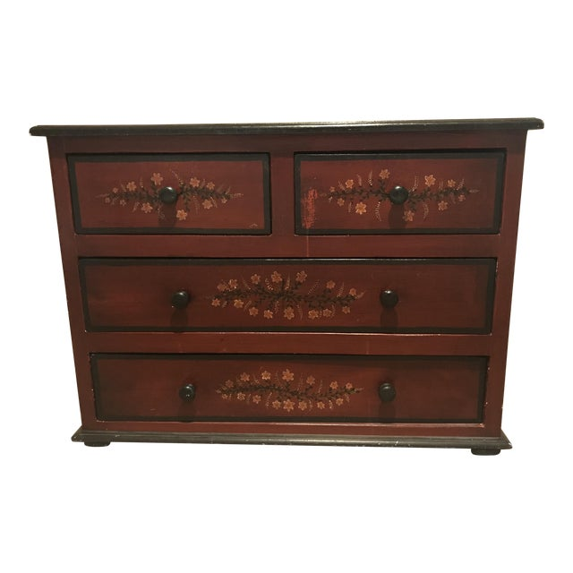 20th Century Black Forest Hand Painted 4-Drawer Dresser For Sale