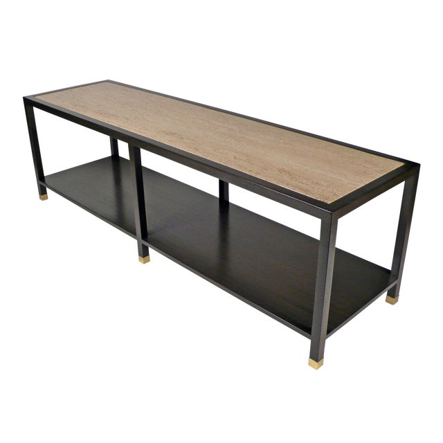 Harvey Probber Travertine Console Table For Sale