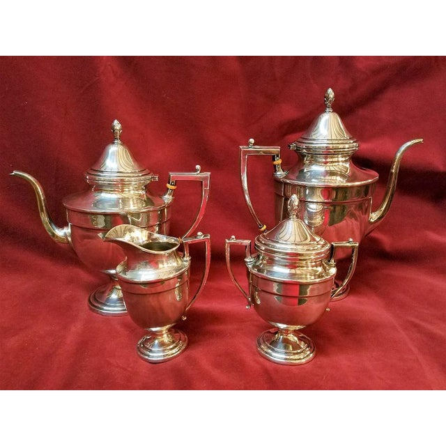 Aesthetic Movement 19c Frank M Whiting & Co Aesthetic Movement Sterling Service - Set of 4 For Sale - Image 3 of 13
