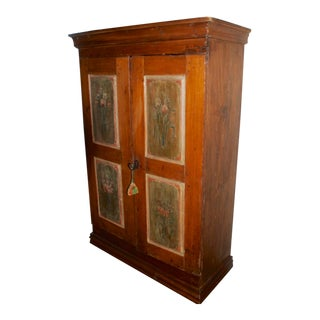 Early 19th Century Antique Hand-Painted Armoire For Sale