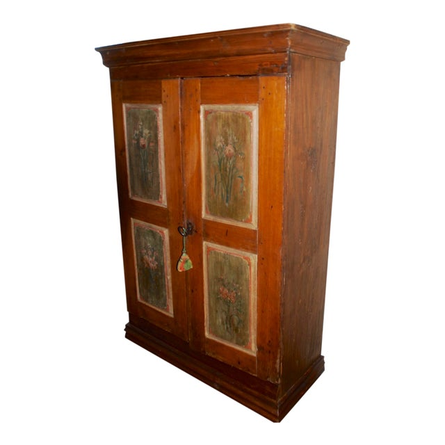 Late 18th/Early 19th Century Antique Hand-Painted Armoire of European Origin For Sale