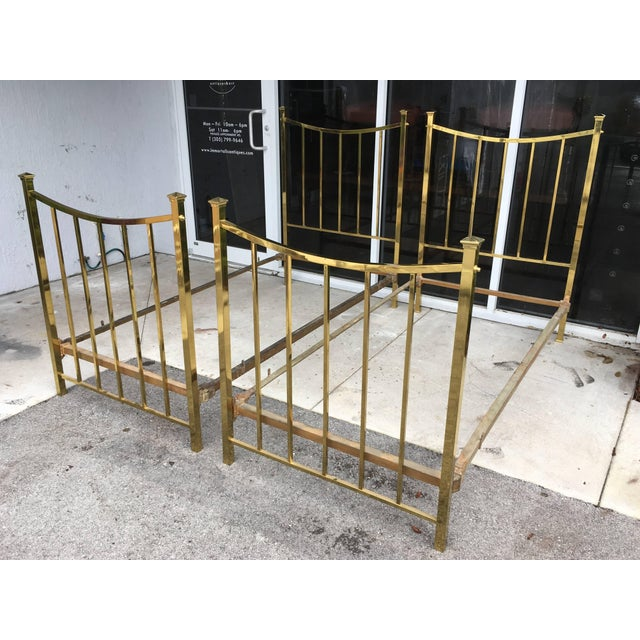 Mid 19th Century Art Deco Brass Twin Bed French Single, Circa 1930 For Sale - Image 5 of 10