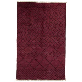 "Over-Dyed Moroccan Hand-Knotted Rug - 4' 10"" X 7' 10"""