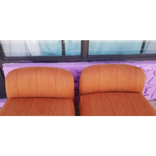 Milo Baughman for Lane Burl Wood Base Slipper Lounge Chairs - a Pair For Sale In Miami - Image 6 of 12