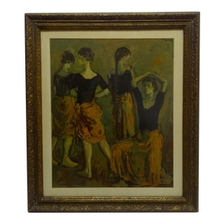 """""""The Dancers"""" Framed Print by Moses Soyer For Sale"""