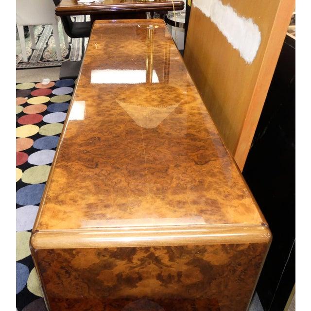 Vintage Roche Bobois Lacquered Burl Wood Credenza For Sale In Miami - Image 6 of 12
