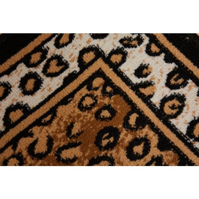 Textile Vintage Leopard Print Rug, 1990s For Sale - Image 7 of 8