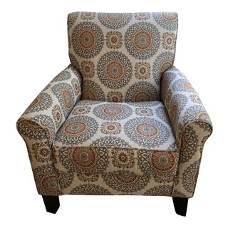 Printed Contemporary Club Chair For Sale
