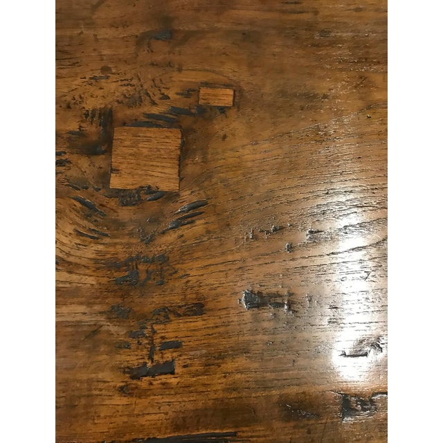 Wood Antique Spanish Teak Dining Table For Sale - Image 7 of 9