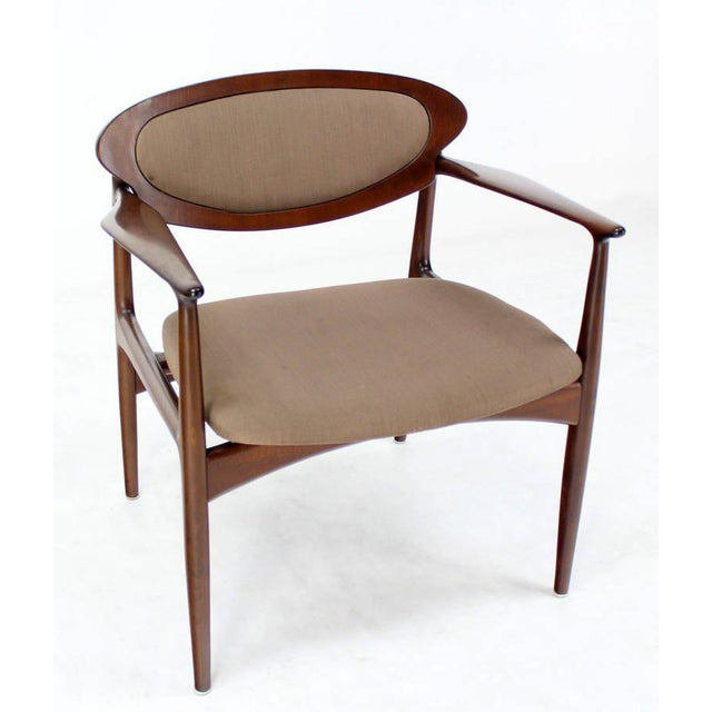 Wood Extra-Wide Mid-Century Danish Modern Lounge Chair by Selig For Sale - Image 7 of 10