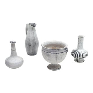 Herman A. Kahler Keramik Earthenware Vases by Svend Hammershoj, Denmark, 1930s For Sale