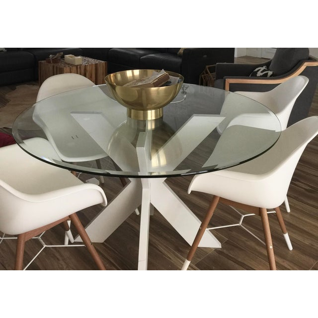 White Lacquer X Table Base For Sale - Image 12 of 13