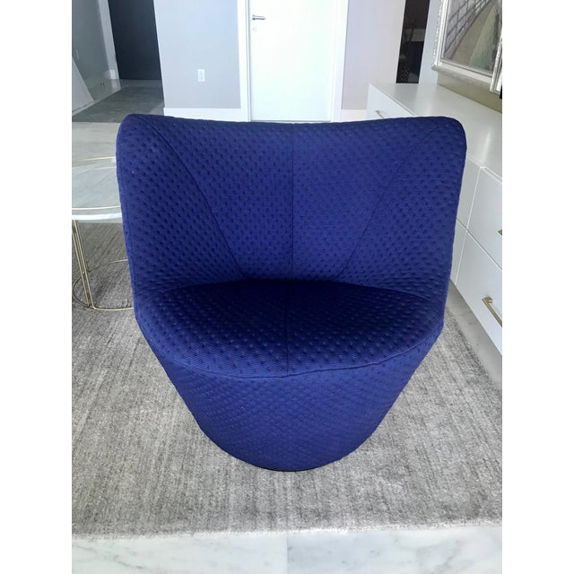 Ligne Roset Anda Swivel Armchair and Ottoman by Pierre Paulin for Ligne Roset, C. 2018 For Sale - Image 4 of 13