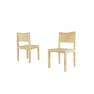 Galuchat Pair Chair Tura For Sale