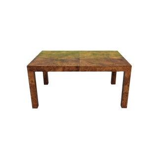 1970s Mid Century Modern Milo Baughman Parsons Dining Table For Sale