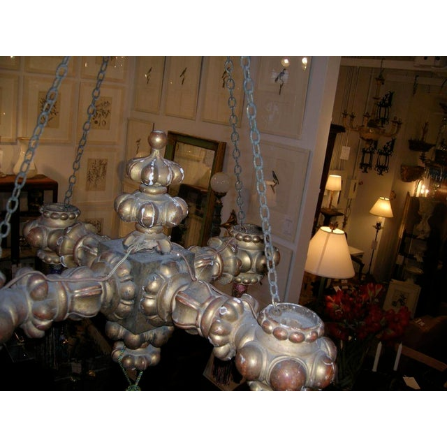 Mid 19th Century 19th Century Giltwood Chandelier with Tassels For Sale - Image 5 of 6