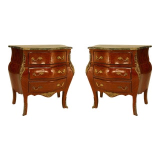 French Louis XV Fruitwood Bedside Tables For Sale