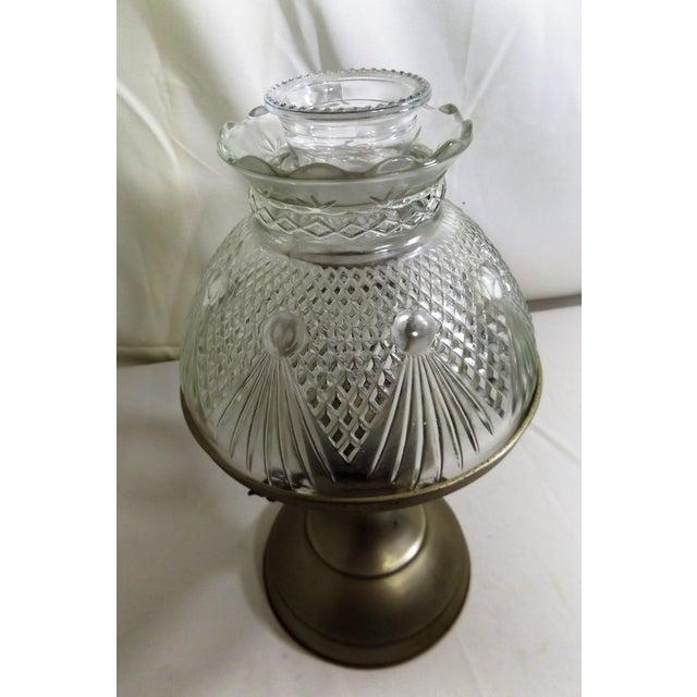 Vintage Kaadan Ltd. Wheatland Oil Lamp For Sale - Image 4 of 7