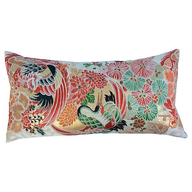 Japanese Obi Metallic Pillow - Image 1 of 5