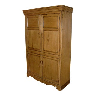 19th Century English Pine Four-door Cabinet For Sale