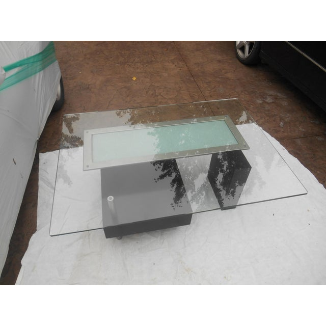 2000 - 2009 Contemporary Abstract Cityscape Style Coffee Table For Sale - Image 5 of 7