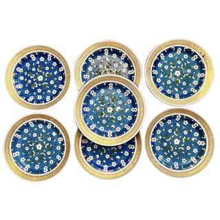 19th Century Wedgwood Blossom Plates - Set of 7 For Sale