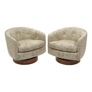 Milo Baughman Barrel Back Chairs by Directional For Sale