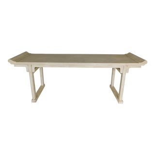 "McGuire of San Francisco Distressed Finish Pagoda Style Console Table 96""w For Sale"