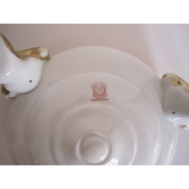 Vintage White, Orange and Gold Tazza with Paw Feet - Image 8 of 11