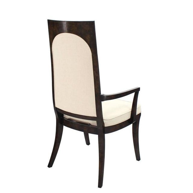 Textile Set of Six Mid-Century Modern Mastercraft Dining Chairs With New Upholstery For Sale - Image 7 of 10