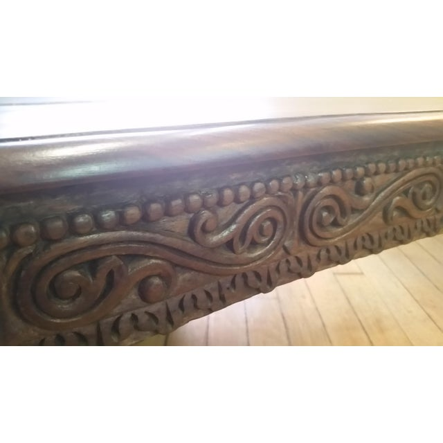 Asian Hand Carved Rosewood Tea Table For Sale - Image 4 of 8